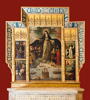 The Virgin of the Navigators - The entire altarpiece