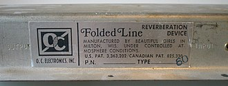 Nameplate - Nameplate of a reverberation device.