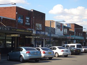 Revesby, New South Wales - Marco Avenue, looking east from Simmons Street