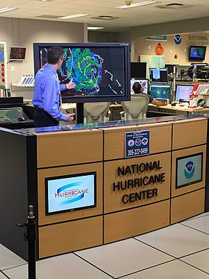 Hurricane Matthew - National Hurricane Center Director Richard Knabb (pictured) regularly filmed briefings on the forecast and expected impacts of Hurricane Matthew in the United States.