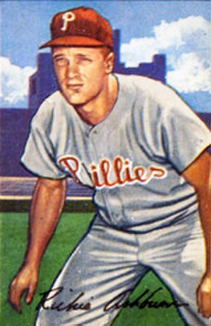 Richie Ashburn - Ashburn's 1952 Bowman Gum baseball card.