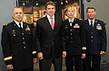Rick Perry with several generals.jpg