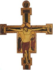 Crucifix with Mourners, the Prophets Isaiah and Jeremiah and Christ Giving His Blessing