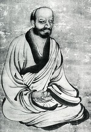 Rinzai school - Japanese painting of Linji Yixuan (Japanese: Rinzai Gigen).