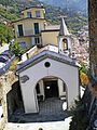 Riomaggiore 384-San rocco-the church from the castle.jpg