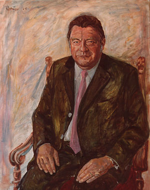 Franz Josef Strauss - Franz Josef Strauss; portrait by Günter Rittner 1975