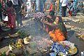Ritual Blessing - Chhath Puja Ceremony - Baja Kadamtala Ghat - Kolkata 2013-11-09 4325.JPG