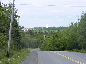 North Preston - The road to North Preston. Its iconic water tower can be seen.