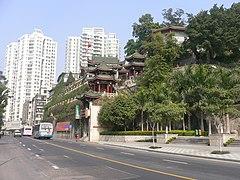 Roadside hillock Buddhist temple in Siming, Xiamen, Fujian, China