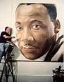 Robert Templeton painting Dr. King's Portrait.jpg
