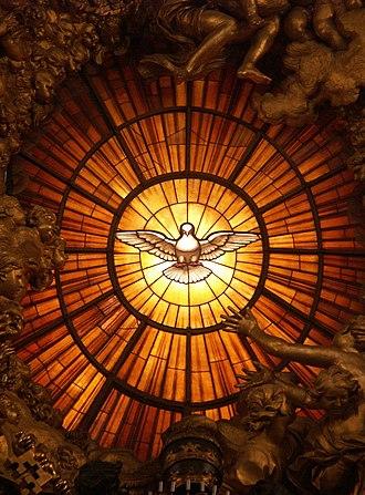 Holy Spirit - Image: Rom, Vatikan, Basilika St. Peter, Die Taube des Heiligen Geistes (Cathedra Petri, Bernini)