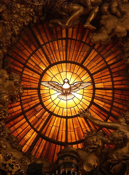 Fichier:Rom, Vatikan, Basilika St. Peter, Die Taube des Heiligen Geistes (Cathedra Petri, Bernini).jpg