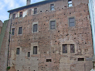 Temple of Peace, Rome - Wall of the Temple of Peace where the Forma Urbis was mounted