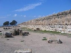 Muralha romana da Amp�rias, porta de entrada inicial de Roma na Pen�nsula Ib�rica.