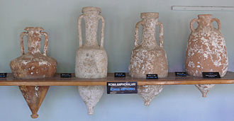Côte Chalonnaise - Chalon-sur-Saône in the Côte Chalonnaise was an important trading centre for Roman wine shipped up the river Saône in amphorae like these.