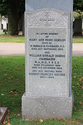 Ronald Fairbairn - Ronald Fairbairn's grave, Dean Cemetery, Edinburgh