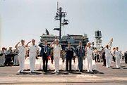 Ronald Reagan aboard USS Constellation
