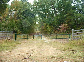 Roseland Plantation - Entrance drive to the Roseland site.