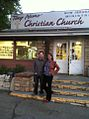 Ross and Carrie in front of Tony Alamo Christian Ministries.jpg