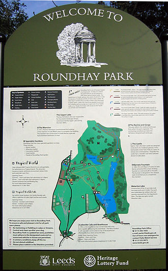 Roundhay Park - Image: Roundhay Park Sign
