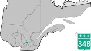 Quebec Route 348 - Image: Route 348 QC