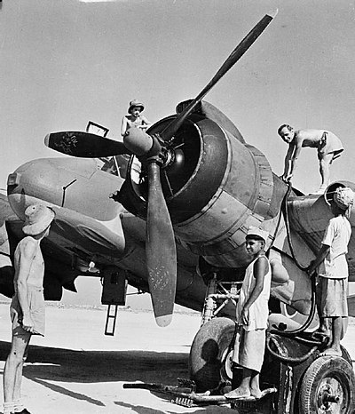 RAF at No. 44 Staging Post, Sharjah, Trucial States, c. 1945 Royal Air Force in the Middle East, 1944-1945. CM6016.jpg