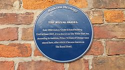 Royal hotel runcorn plaque