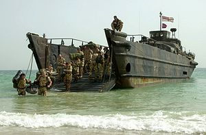 Royal Marines, landing craft utility, 26Feb2003