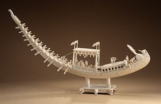 Bengal Subah - A sculpture of the Nawab's royal peacock barge, Los Angeles County Museum