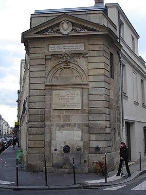 Jean Beausire - Fontaine Boucherat, Rue de Turenne, (1695-1699)