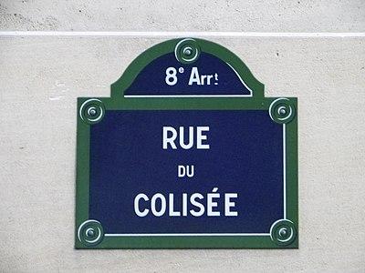 Rue Du Colisee Wikivisually