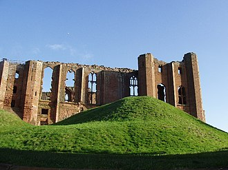 John of Gaunt - Kenilworth Castle, a massive fortress extensively modernised and given a new Great Hall by John of Gaunt after 1350
