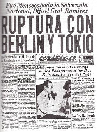 Argentina during World War II - Image: Ruptura de relaciones con el eje