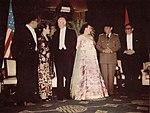 Ruslan Abdulgani, Nj. Moekarto, Dwight Eisenhower, Mamie Eisenhower, Sukarno, and Moekarto Notowidigdo, Presiden Soekarno di Amerika Serikat, p52.jpg