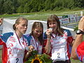 Russia Relay silver medal WOC 2008.JPG