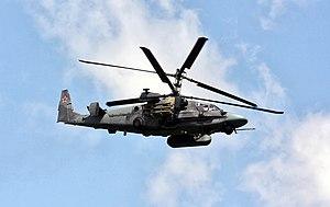 Russian Kamov Ka-52 helicopter - Bronnitsy.jpg