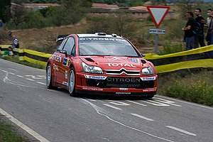Citroën C4 WRC - Image: Sébastien Loeb 2007 Rally Catalunya 2