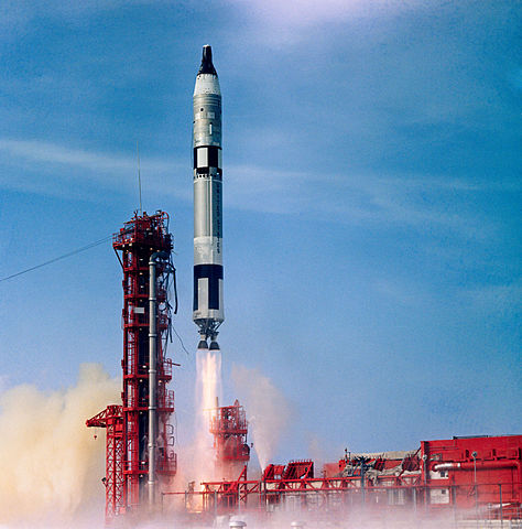 Launch of the Gemini 10 spacecraft, NASA photoSource: Wikipedia 474px-S66-42756.jpg