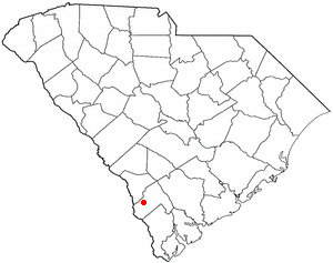 Estill, South Carolina - Image: SC Map doton Estill