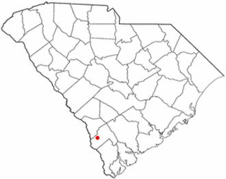 Estill, South Carolina - Image: SC Map doton Estill
