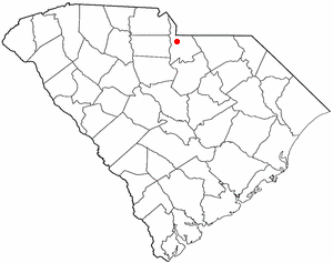 Lancaster, South Carolina - Image: SC Map doton Lancaster