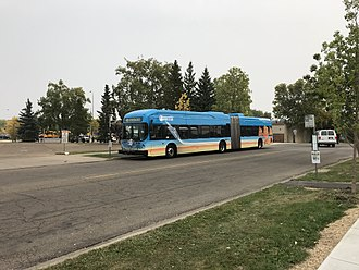 St. Albert Transit - STAT trial electric accordion bus