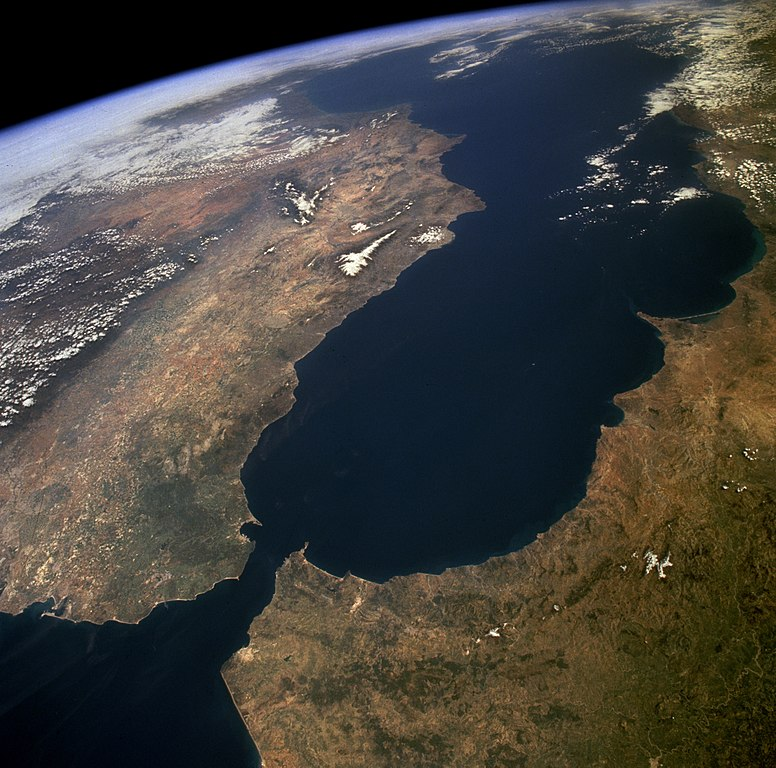 Das Mittelmeer vom Westen her betrachtet