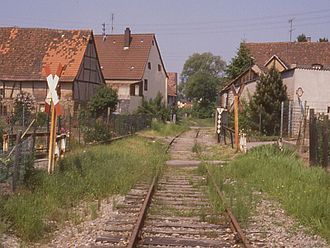 Katzbach Railway - Former route of the line in Odenheim