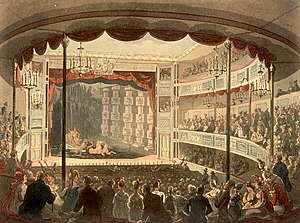 Ventriloquism - Sadler's Wells Theatre in the early 19th century, at a time when ventriloquist acts were becoming increasingly popular.