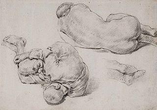 Dwa studia śpiących chłopców