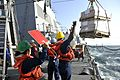 Sailors direct a replenishment-at-sea. (8455082185).jpg