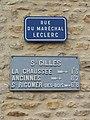Saint-Paterne (Sarthe) Saint-Gilles, plaque de cocher 02.jpg