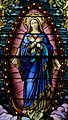 Saint Mary of the Assumption Church (Columbus, Ohio) - stained glass, Mary of the Immaculate Conception, detail.jpg