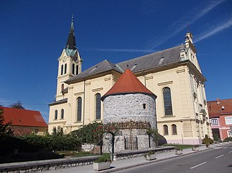 Žalec - Church and 16th-century defence tower
